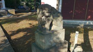 西熊野神社 嘉永3年狛犬 阿