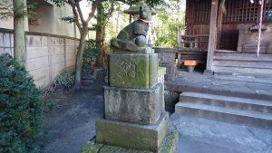 元宿堰稲荷神社 大正4年神狐 吽