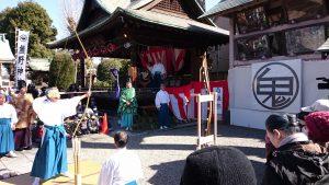 志茂熊野神社 白酒祭(オビシャ行事)歩射