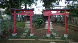 春日神社(練馬区春日町) 三峯神社・第六天神社 鳥居