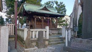志茂熊野神社 末社四社(旧本殿)
