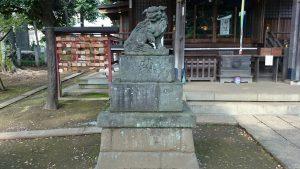 春日神社(練馬区春日町) 狛犬 吽