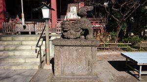 千住本氷川神社 狛犬 吽