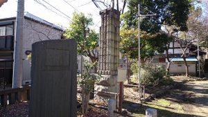 千住大川町氷川神社 旧千住新橋の親柱