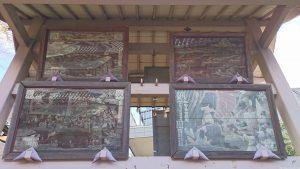 志茂熊野神社 絵馬殿の大絵馬