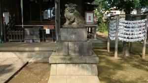 春日神社(練馬区春日町) 狛犬 阿
