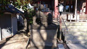 千住本氷川神社 狛犬 阿