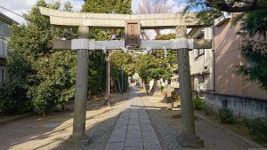 志茂熊野神社 享和4年鳥居
