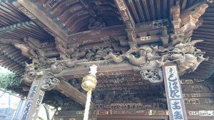 千住本氷川神社 末社殿 向拝部彫刻