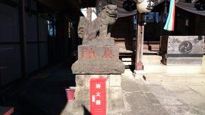 元宿神社 狛犬 吽