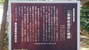 二宮神社(小河大明神) 東京都指定旧跡「二宮神社と城跡」
