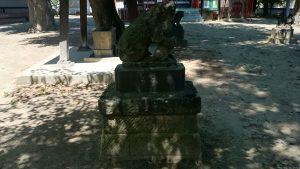 稲城青渭神社 年代不明狛犬 吽