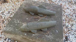 野毛六所神社 鮎の石像