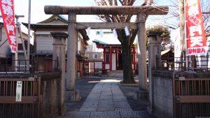 白幡八幡神社(千住宮元町) 鳥居