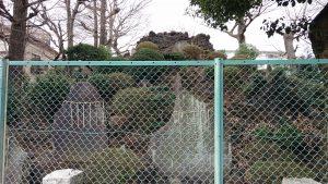 豊島区高松浅間神社 豊島長崎の富士塚 公園側景観
