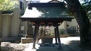 稲城青渭神社 手水舎