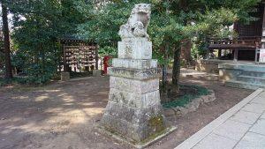二宮神社(小河大明神) 狛犬 吽