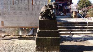 千住神社 狛犬 吽