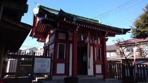 白幡八幡神社(千住宮元町) 拝殿