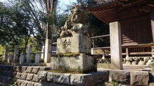 氷川神社(高尾町) 狛犬 吽