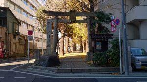 板橋区氷川町氷川神社 大正4年鳥居と社号標