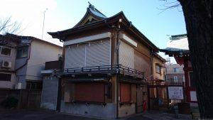白幡八幡神社(千住宮元町) 神楽殿・社務所
