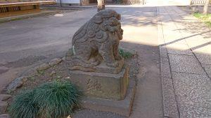 板橋区氷川町氷川神社 弘化2年狛犬 吽