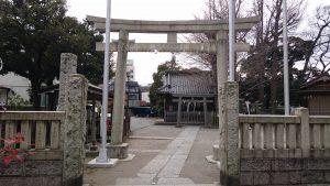 柳原稲荷神社 一の鳥居