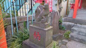 芭蕉稲荷神社 石狐 吽