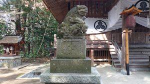 阿伎留神社 狛犬 吽