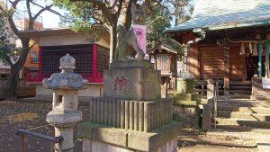 清水稲荷神社 拝殿前狐像 吽