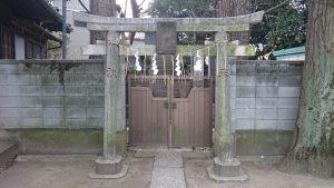 柳原稲荷神社 富士浅間神社 鳥居