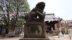 嶺白山神社 狛犬 左
