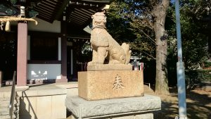 蓮根氷川神社 狛犬 阿