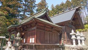 正一位岩走神社 拝殿