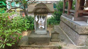 葛飾八幡宮 厳島社 石祠