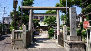 堀切天祖神社 鳥居と社号標
