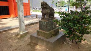 葛飾八幡宮 安永6年狛犬 阿