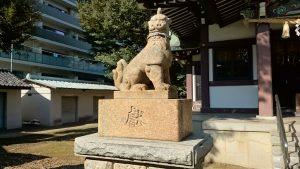 蓮根氷川神社 狛犬 吽