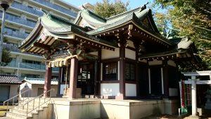 蓮根氷川神社 拝殿