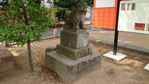 葛飾八幡宮 安永6年狛犬 吽