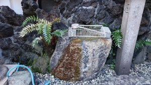 柳橋篠塚稲荷神社 手水鉢