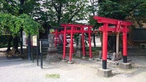 萩中神社 東官守稲荷神社 全景