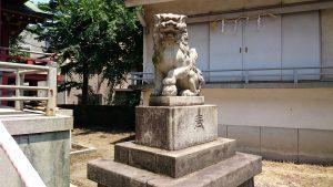 小谷野神社 昭和14年狛犬 阿