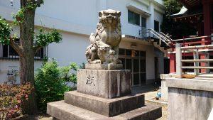 小谷野神社 昭和14年狛犬 吽
