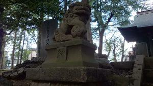 田柄愛宕神社 狛犬 吽