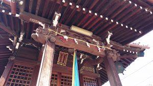 白魚稲荷神社 向拝部彫刻