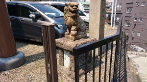 駒込日枝神社(朝日山王宮) 狛犬 阿