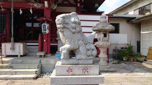 上千葉香取神社 拝殿前狛犬 吽