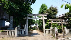 小谷野神社 鳥居と社号標